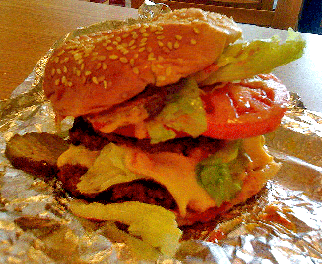 burger The burger itself was quite tasty, quality fresh ground beef in real